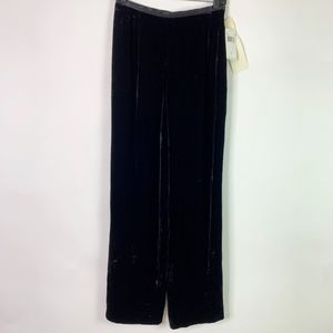 Dana Buchman Pants Womens 6 Black Velvet Straight